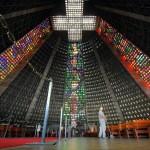 Metropolitan Cathedral of Saint Sebastian, Rio de Janeiro, Brazil. December 11, 2015