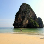 Phra Nang Beach, Krabi, Thailand. March 19, 2012.