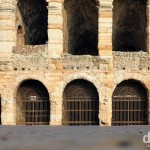 The exterior of The Arena from across Plaza Bra in Verona, Italy. March 17, 2014.