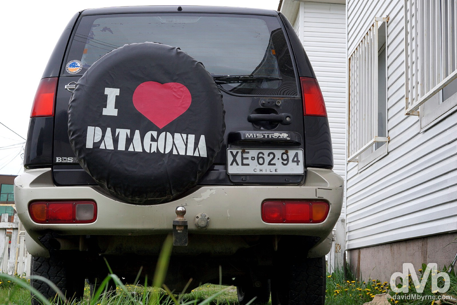 I Love Patagonia. Punta Arenas, Chile. November 10, 2015.