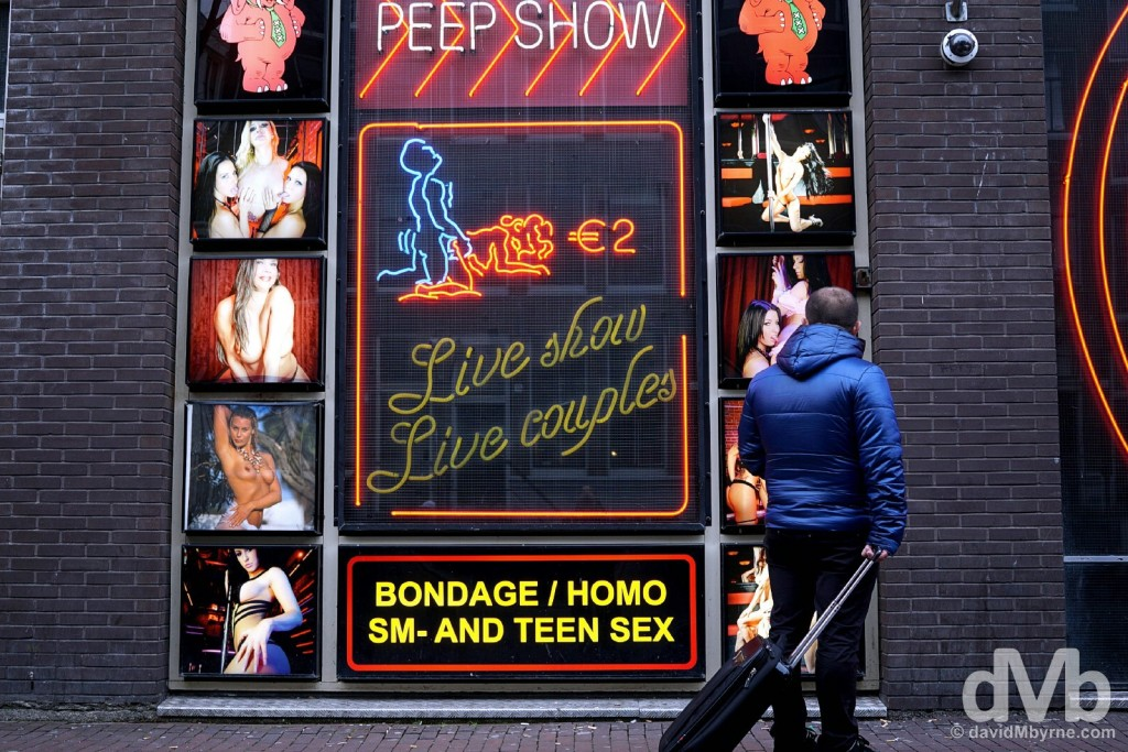 Peep Show. The Red Light District, Amsterdam, Netherlands. January 19, 2016.
