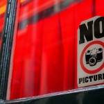 No Pictures of the ladies. Pictures of the 'NO PICTURES' sign is OK, I guess. Red Light District, Amsterdam. Netherlands. January 19, 2016.
