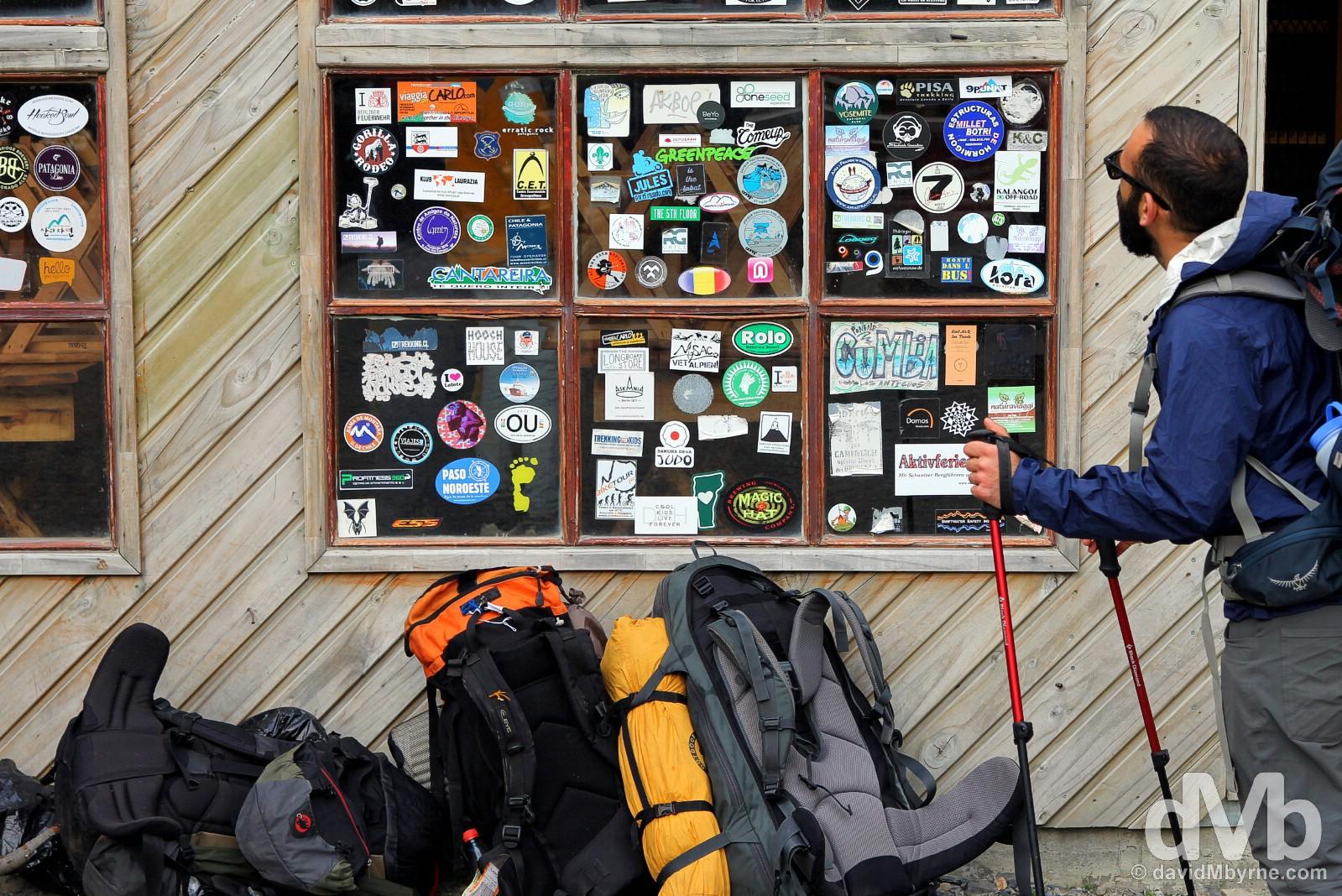 Refugio y Campamento Chileno in Torres del Paine National Park, Chile. November 24, 2015.