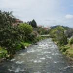 The Rio Tomebamba in Cuenca, southern Ecuador. July 26, 2015.