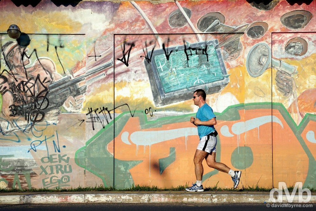 Running in Porto Alegre, Brazil. December 8, 2015.