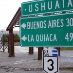 Near the end of Ruta 3, the world's southernmost highway, in Ushuaia, Tierra del Fuego, Argentina. November 13, 2015.