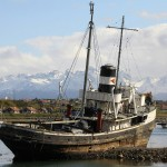 The St Christopher tugboat in Ushuaia, Tierra del Fuego, Argentina. November 18, 2015.