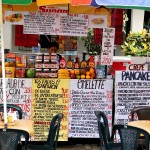 A stall in Montanita, Ecuador. July 23, 2015.