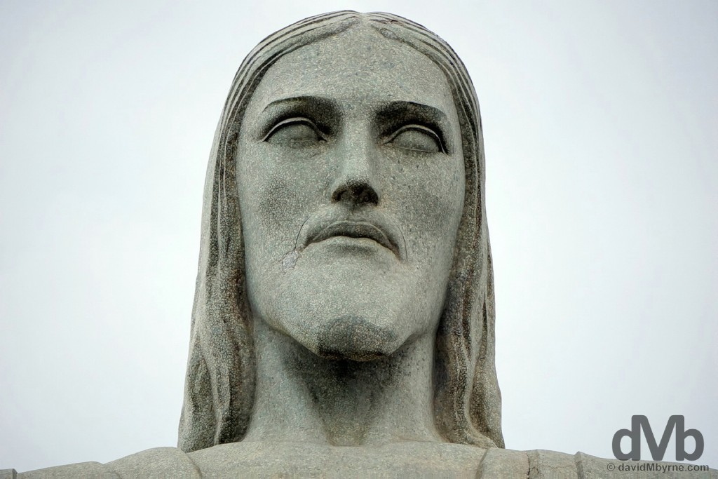 The face. Christ the Redeemer, Rio de Janeiro. December 12, 2015.