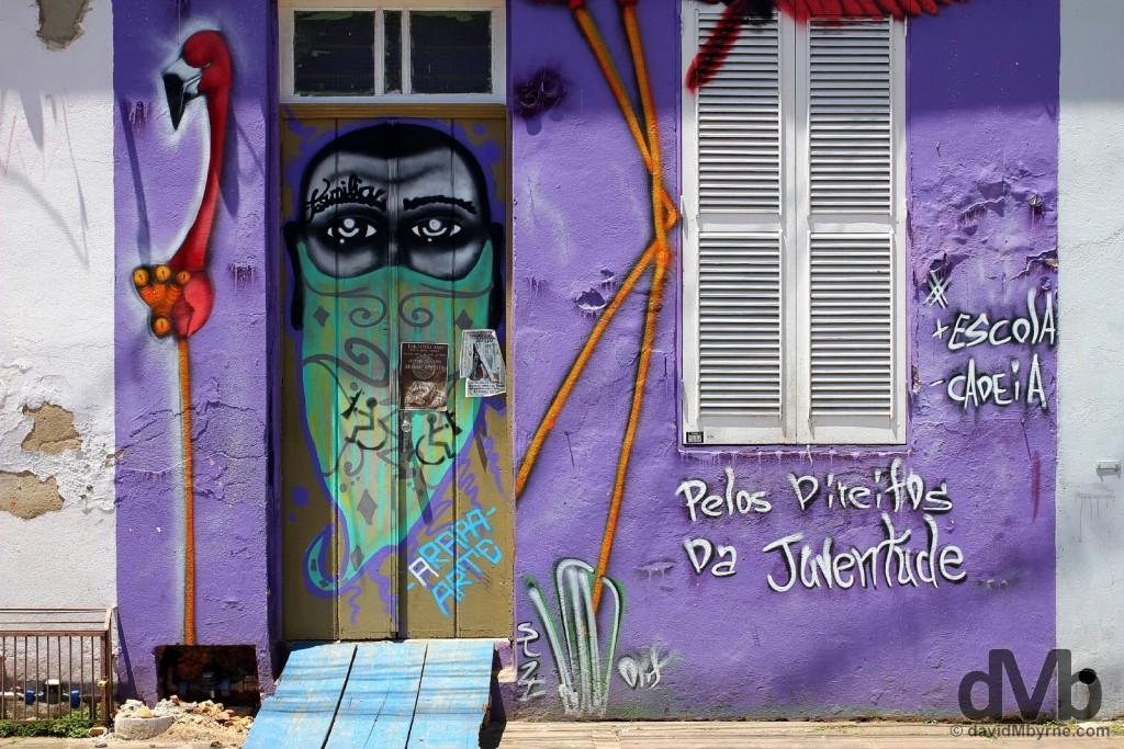 Travessa dos Venezianos in Porto Alegre, Brazil. December 8, 2015.