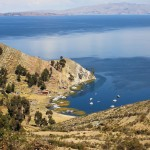 Views from Isla del Sol in Lake Titicaca, Bolivia. August 24, 2015.