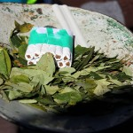 Coca leaves & cigarettes in the Miners market, Potosi, Bolivia. September 1, 2015.