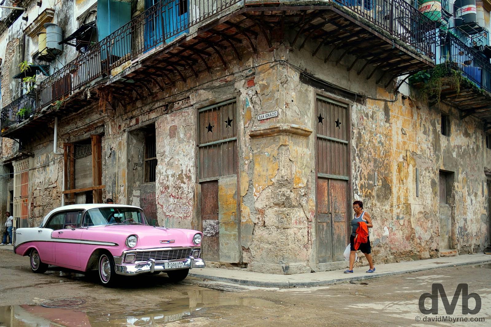 Over half a century of neglect. San Ignacio, Habana Vieja/Old Havana, Havana, Cuba. April 30, 2015.
