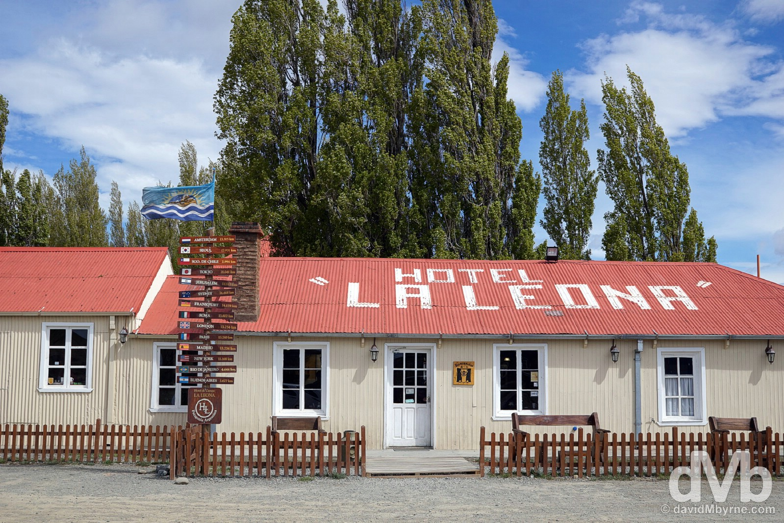 The historic Hotel La Leona, a popular stop on Argentinian Ruta 40 between El Calafate & El Chalten. Patagonia, Argentina. November 3, 2015.