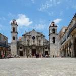 Plaza de la Caterdral, Habana Vieja/Old Havana, Havana, Cuba. May 2, 2015.