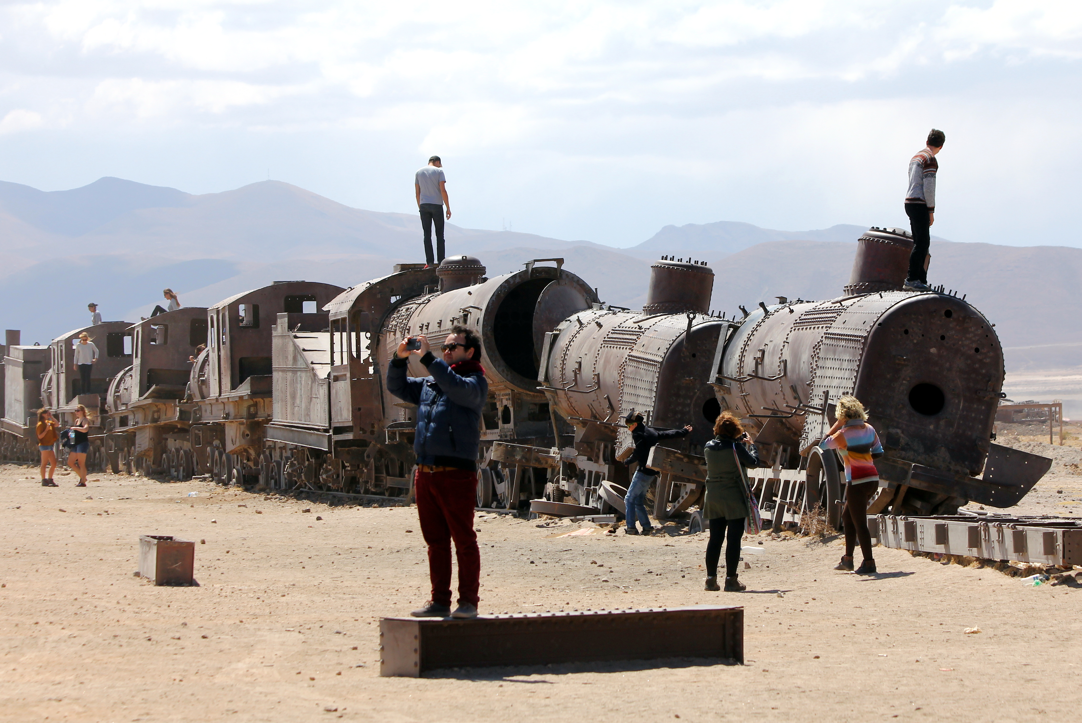The Train Cemetery on the outskirts of Uyuni, southern Bolivia. September 3, 2015.