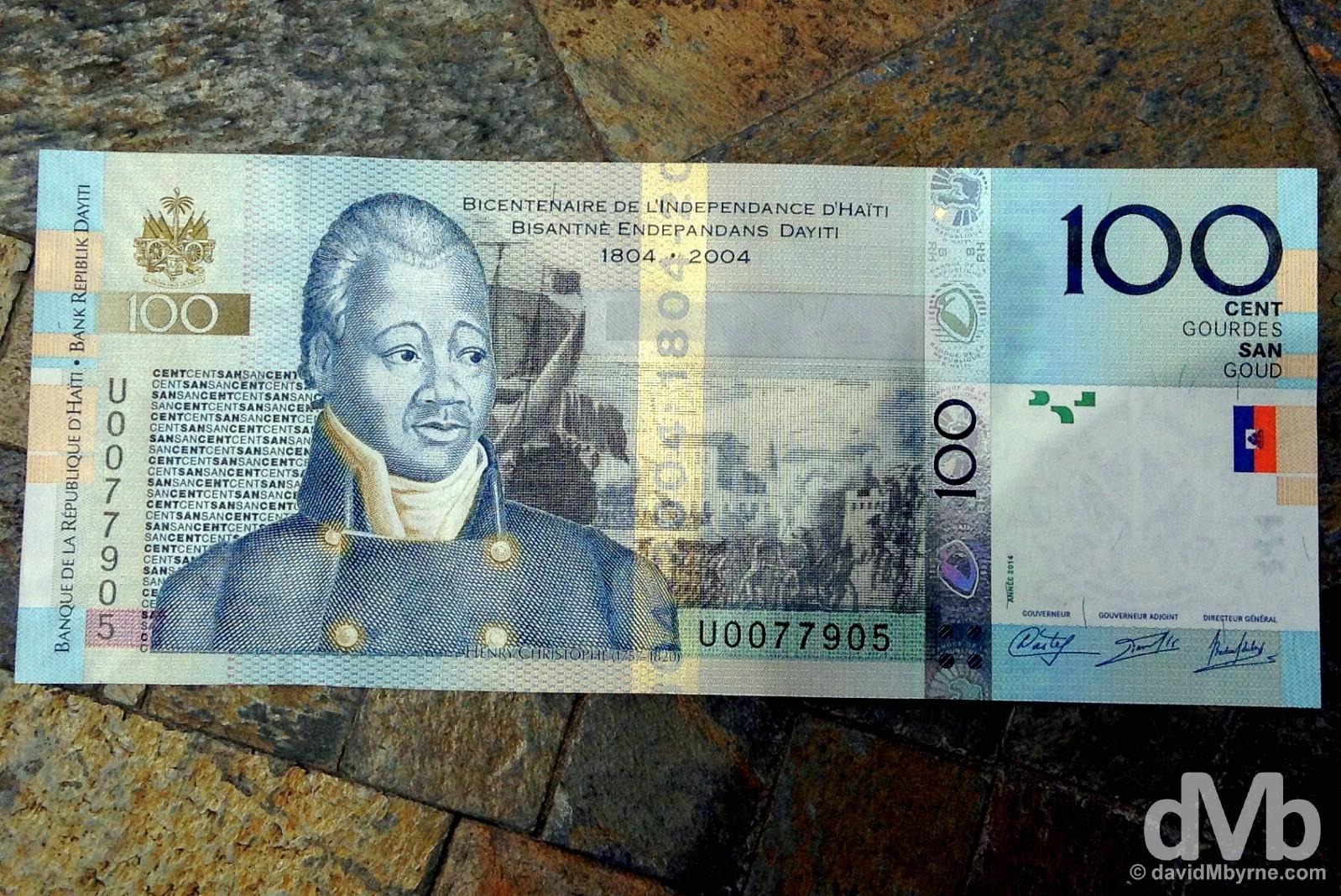100 Goud (€1.40). Port-Au-Prince, Haiti. May 16, 2015.