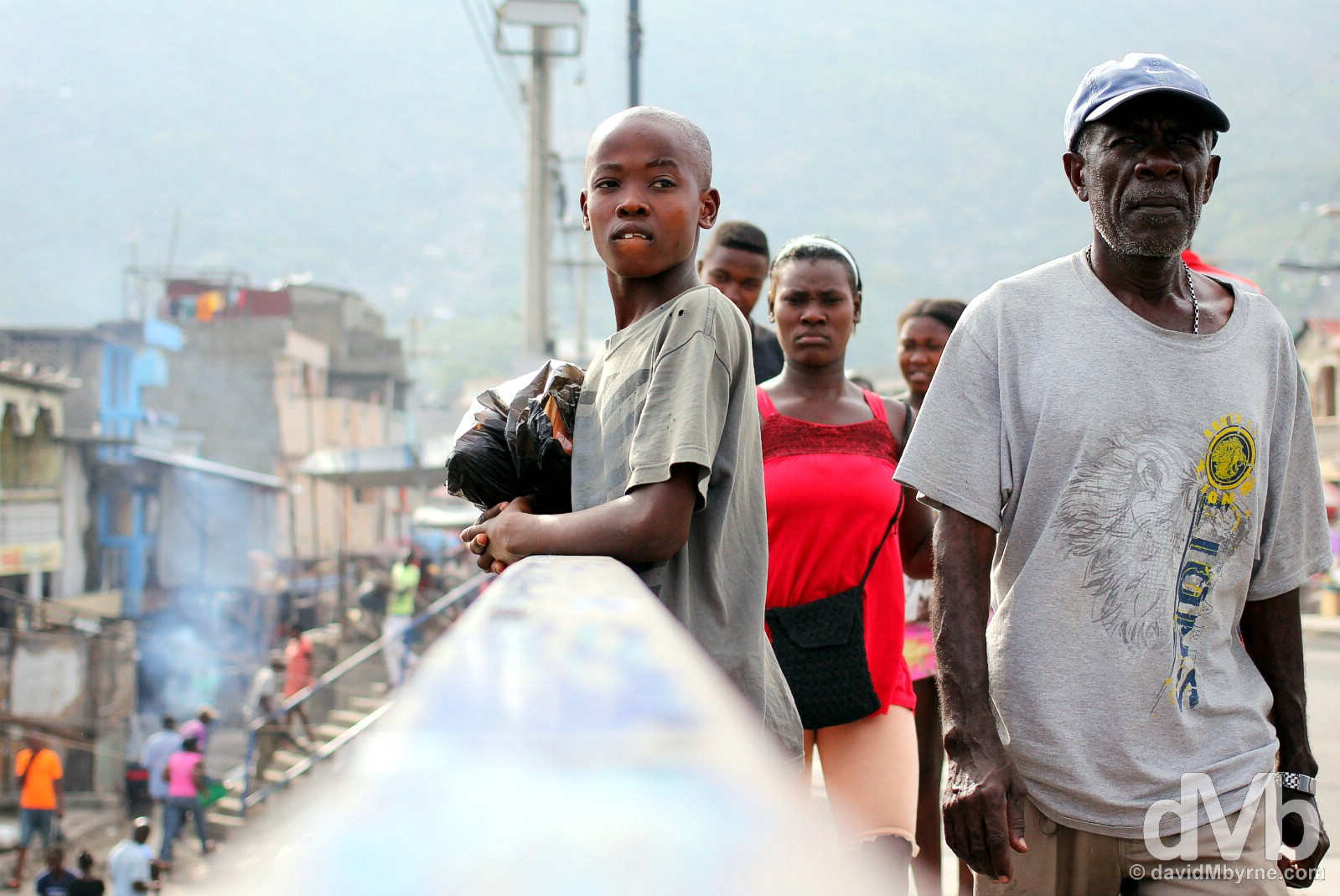 On the streets of Cap-Haïtien, northern Haiti, Hispaniola, Greater Antilles. May 22, 2015.