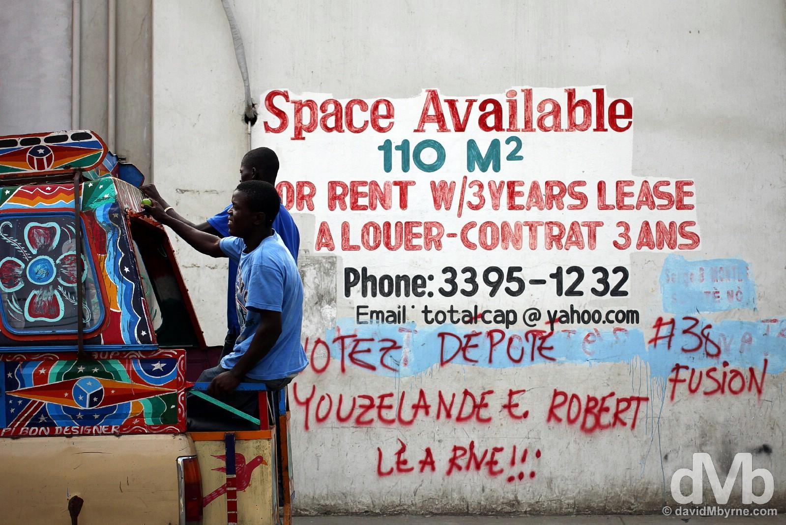 On the streets of Cap-Haïtien, northern Haiti, Hispaniola, Greater Antilles. May 22, 2015.