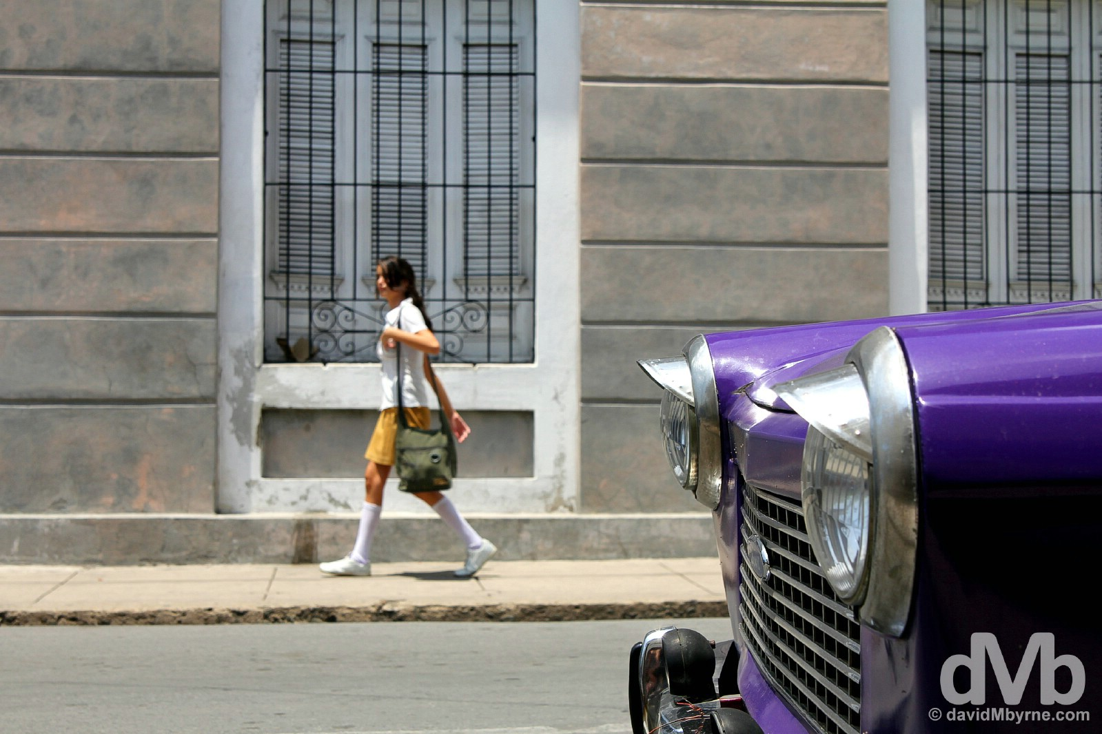 On the streets of Cienfuegos Cuba. May 8, 2015.