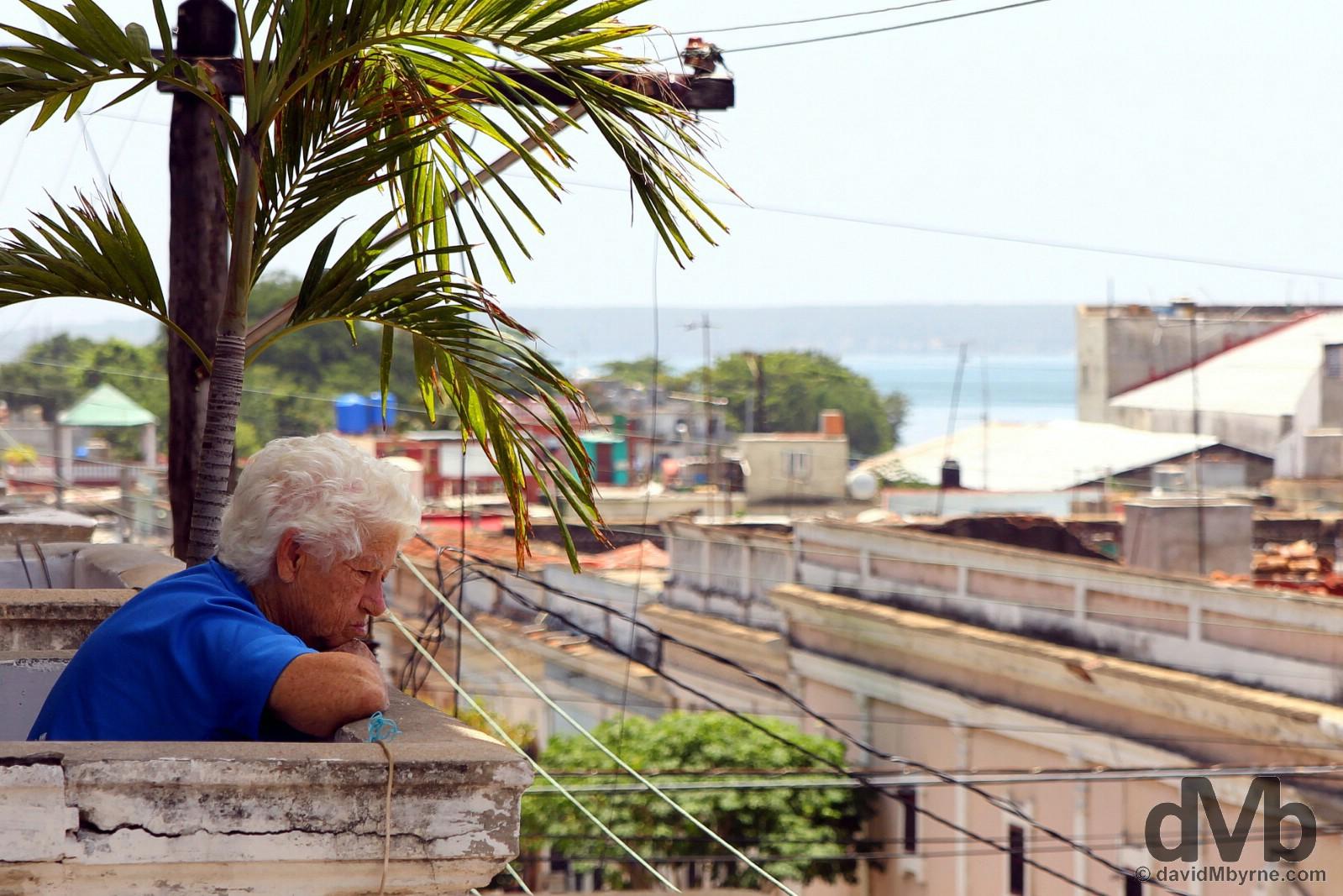 Overlooking Calle 31 in Cienfuegos, Cuba. May 9, 2015.