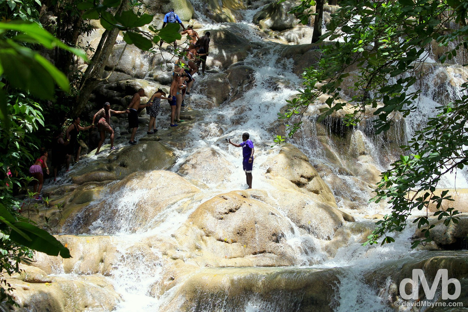 Dunn's River Falls, Jamaica. May 15, 2015.