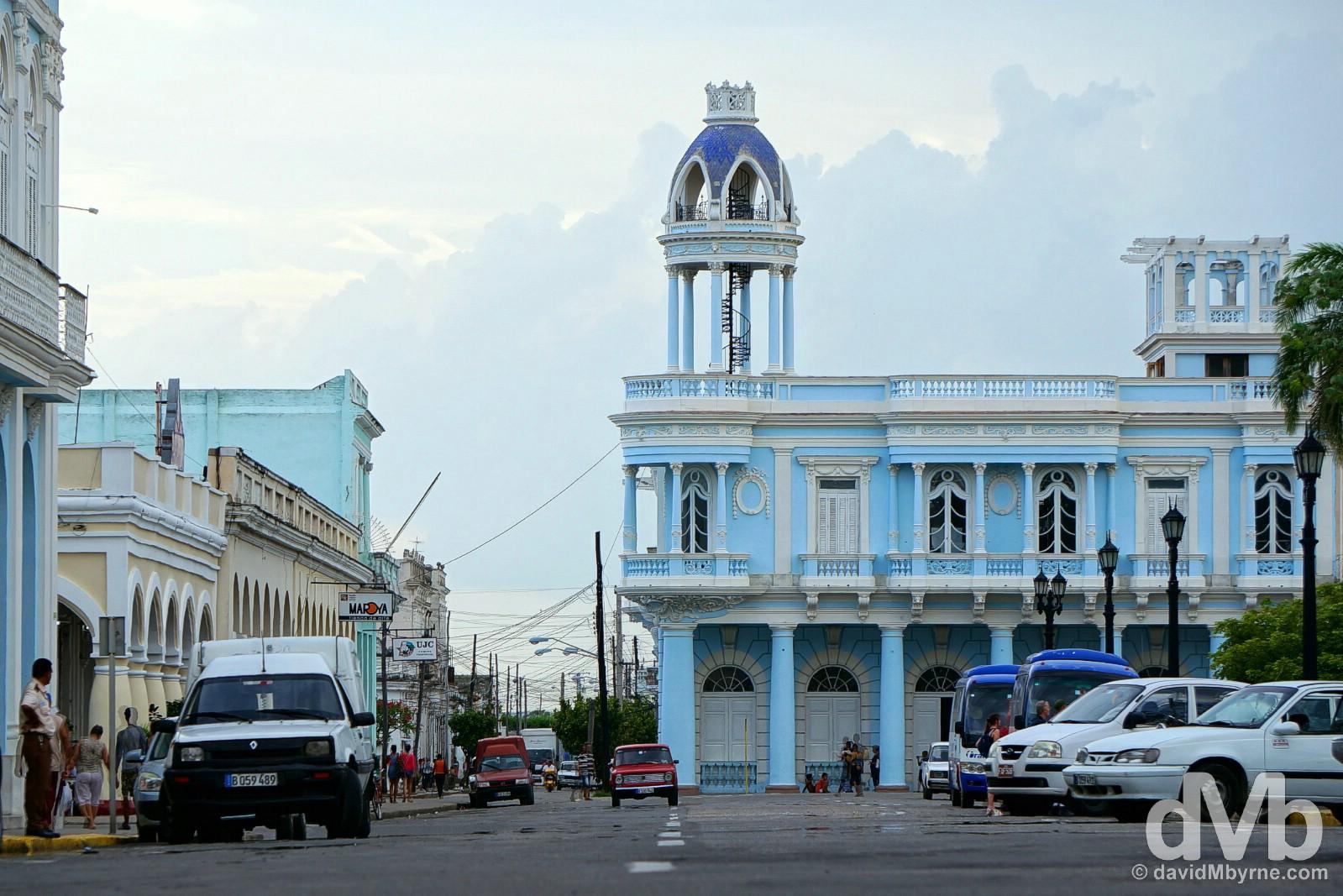 The Casa de la Cultura Benjamin Duarte off Parque Jose Marti in Cienfuegos, Cuba. May 7, 2015.