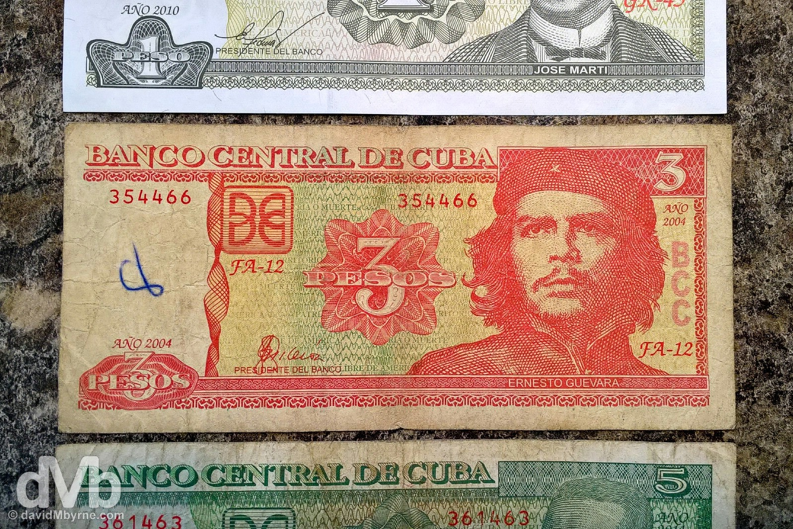 Cuban pesos, MN, moneda nacional. Barely worth the paper it's printed on.