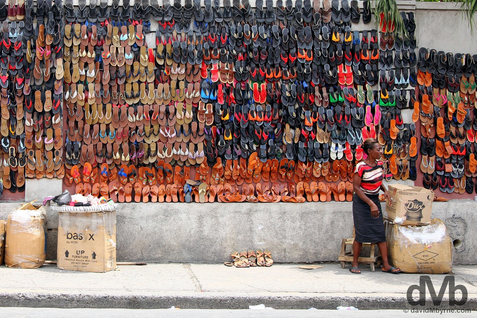 On the streets of Port-Au-Prince, Haiti. May 17, 2015.