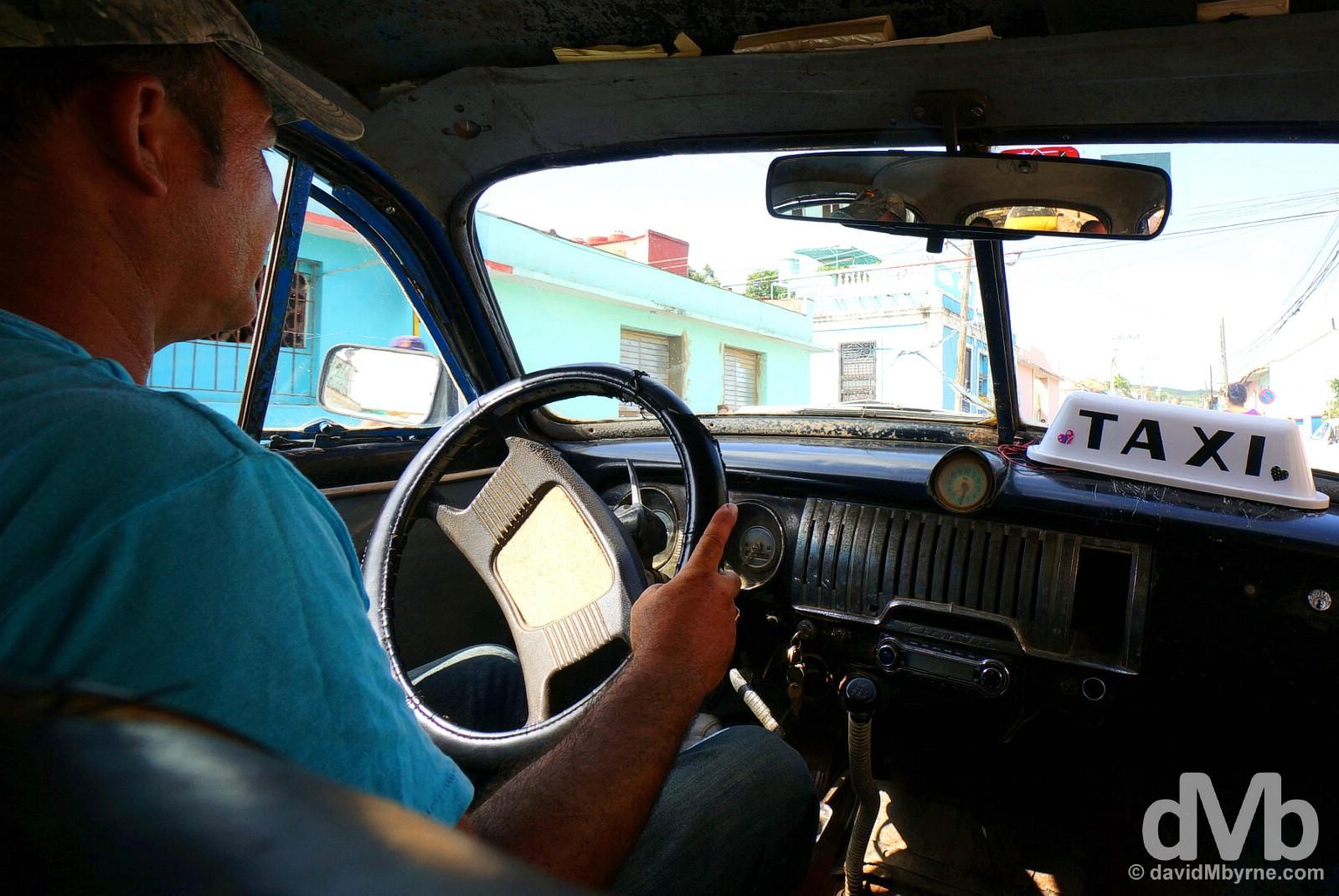 Taxi. Trinidad, Cuba. May 6, 2015.