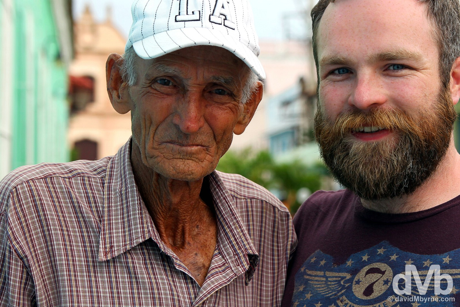 Liam with The Old Man. Plaza del Carmen, Camagüey, Cuba. May 4, 2015.