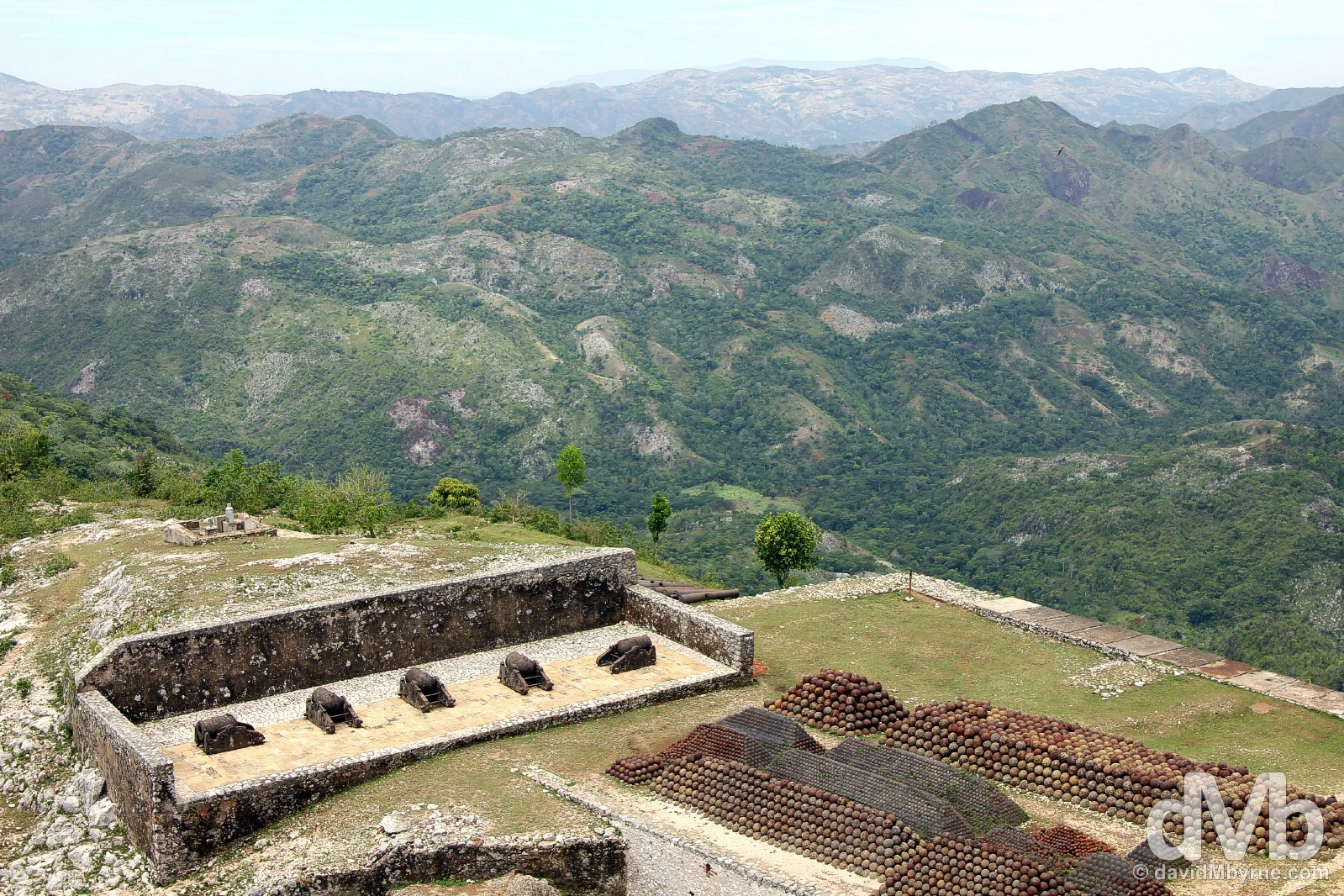 The Haitian countryside as seen from the UNESCO-listed Citadelle Laferrière in northern Haiti, Hispaniola, Greater Antilles. May 22, 2015.