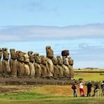 Ahu Tongariki, Easter Island, Chile. October 1, 2015.
