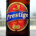 Prestige Beer. Estinfil Guesthouse, Port-Au-Prince, Haiti. May 24, 2015.