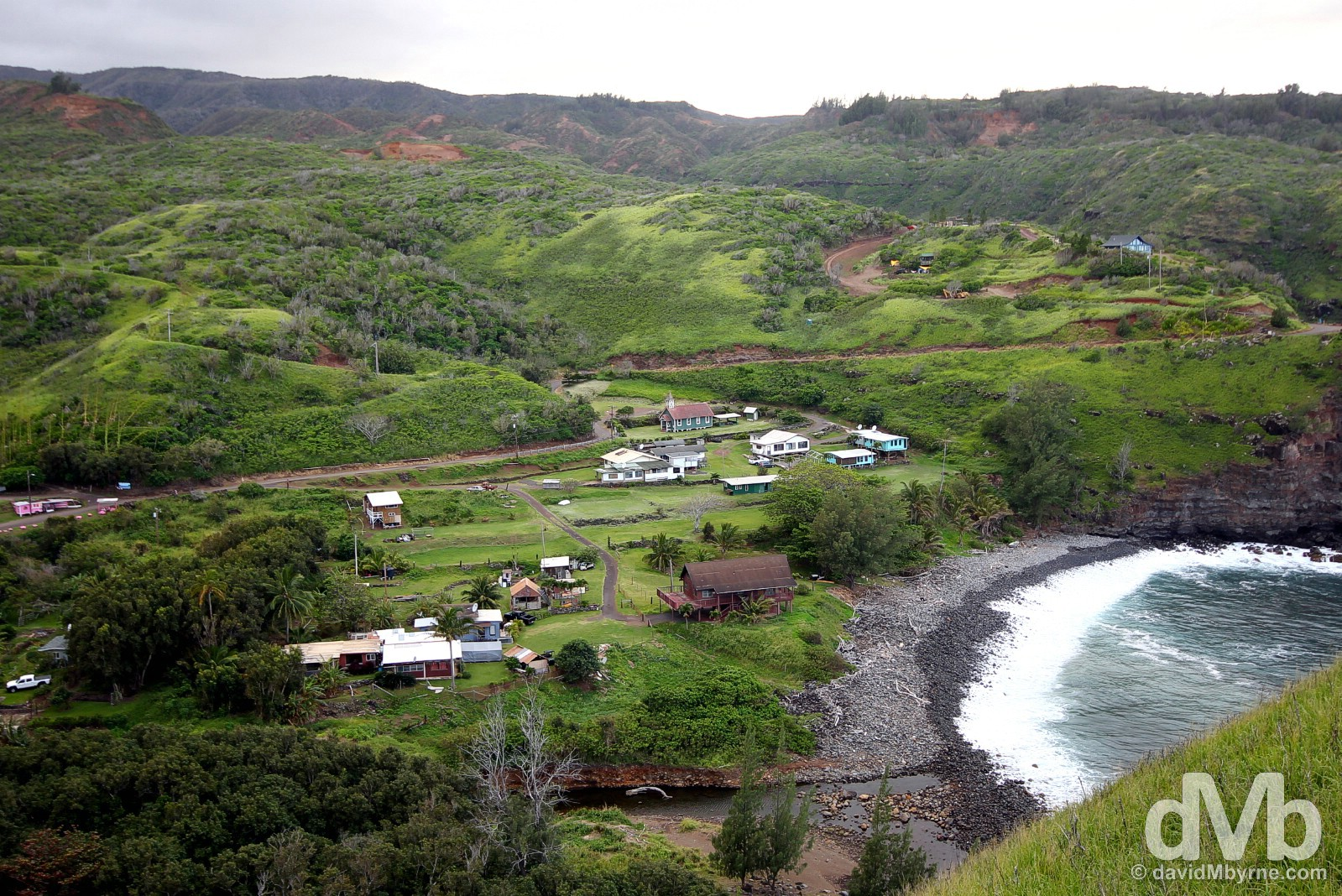 A small settlement off State Highway (yes, 'highway') 340, a.k.a. the Kahekili Highway, in remote western Maui, Hawaii, USA. March 4, 2013.