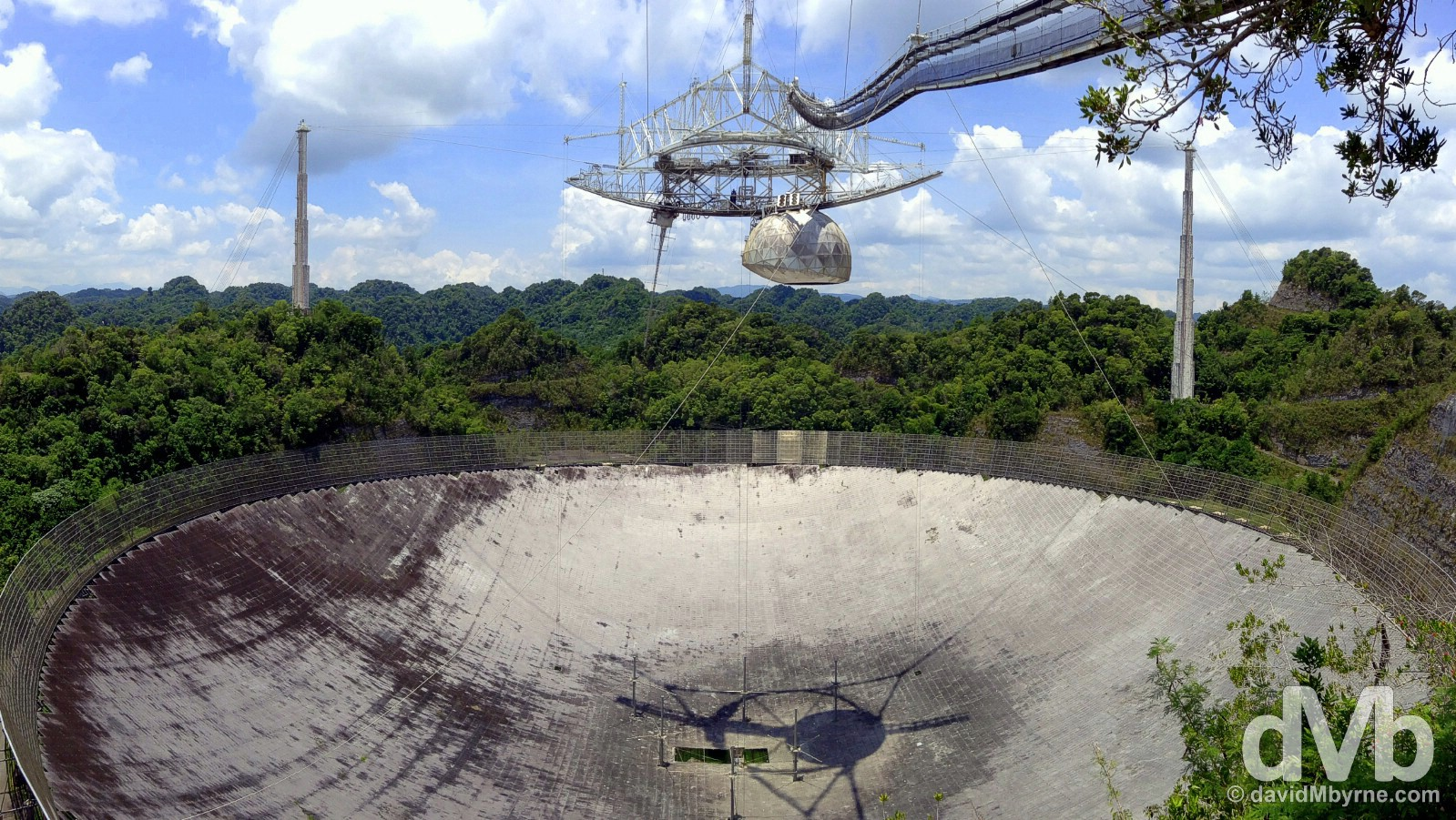 Arecibo Observatory, Puerto Rico, Greater Antilles. June 4, 2015.