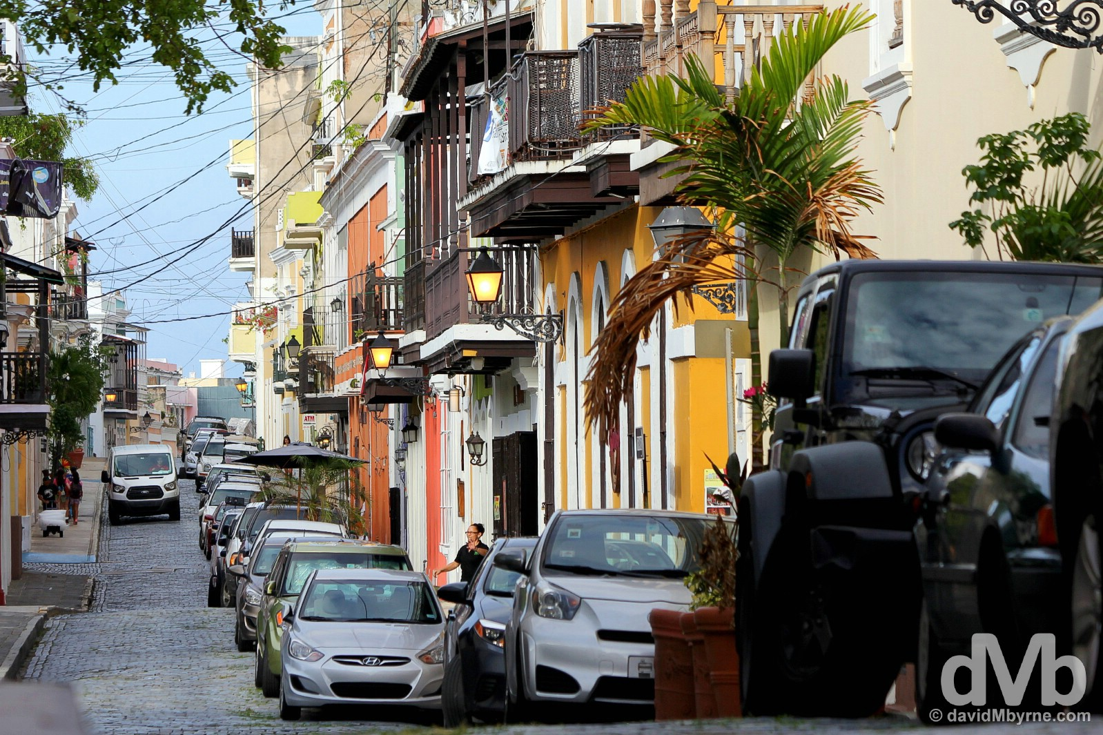 Calle de San Sabastian in Old San Juan, Puerto Rico, Greater Antilles. June 2, 2015.