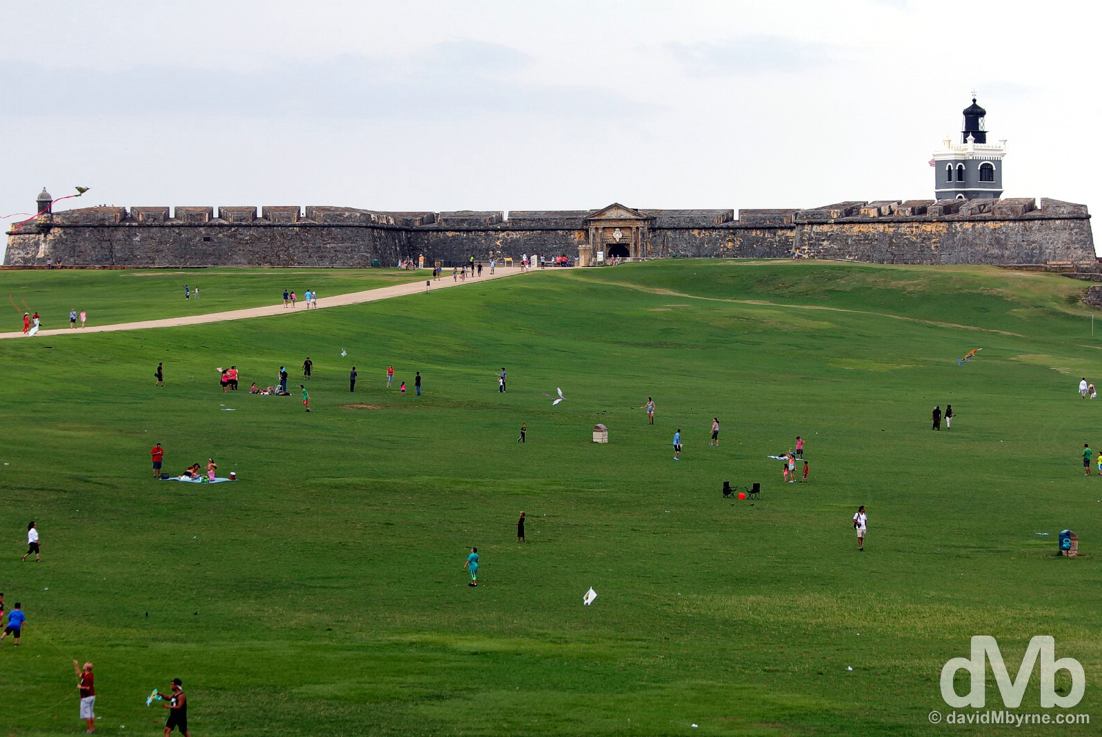 Campo del Morro in Old San Juan, Puerto Rico, Greater Antilles. May 31, 2015.