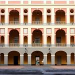 The interior courtyard of Cuartel de Ballaja in Old San Juan, Puerto Rico, Greater Antilles. June 2, 2015.