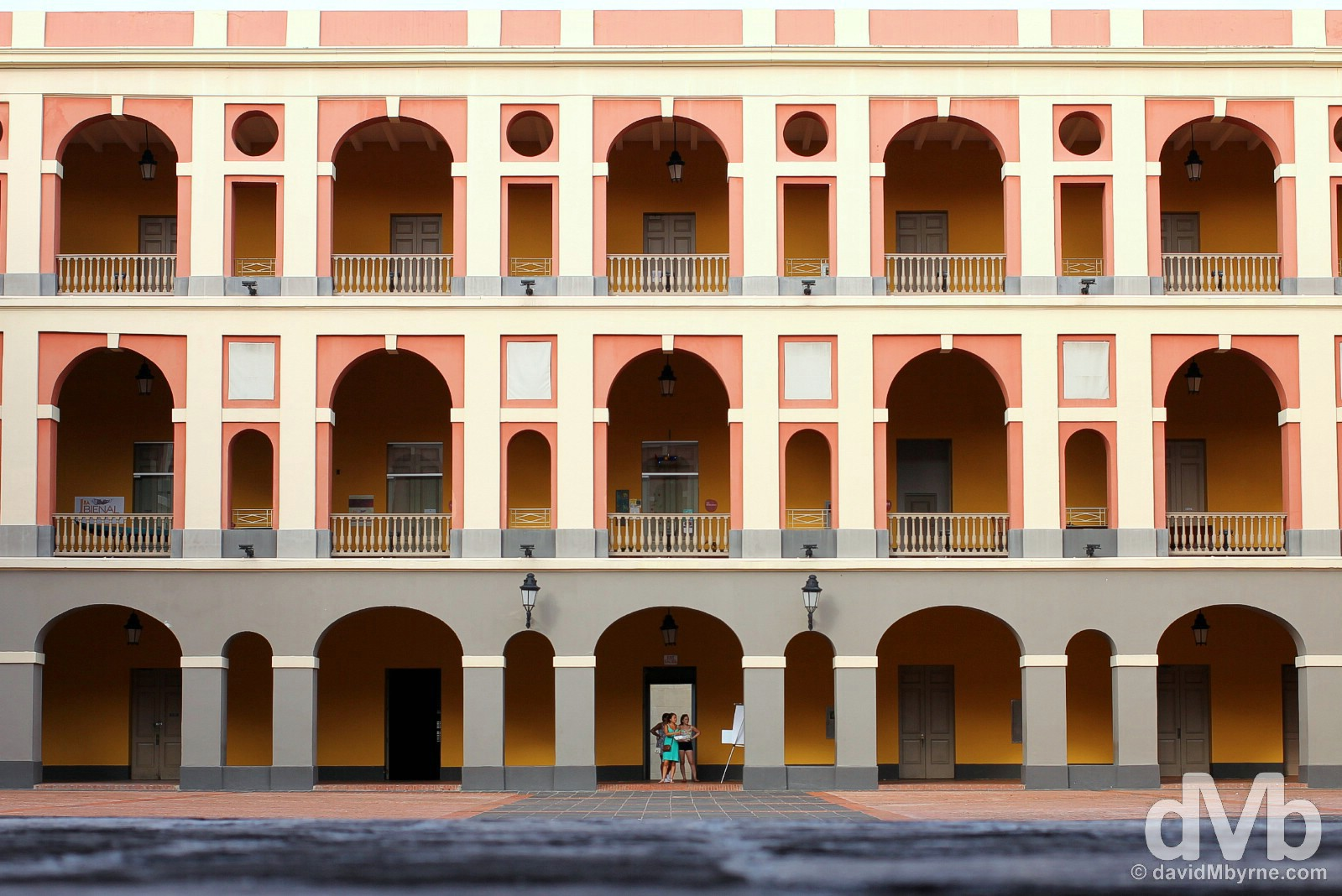 The interior courtyard of Cuartel de Ballaja in Old San Juan, Puerto Rico, Greater Antilles. June 2, 2015.