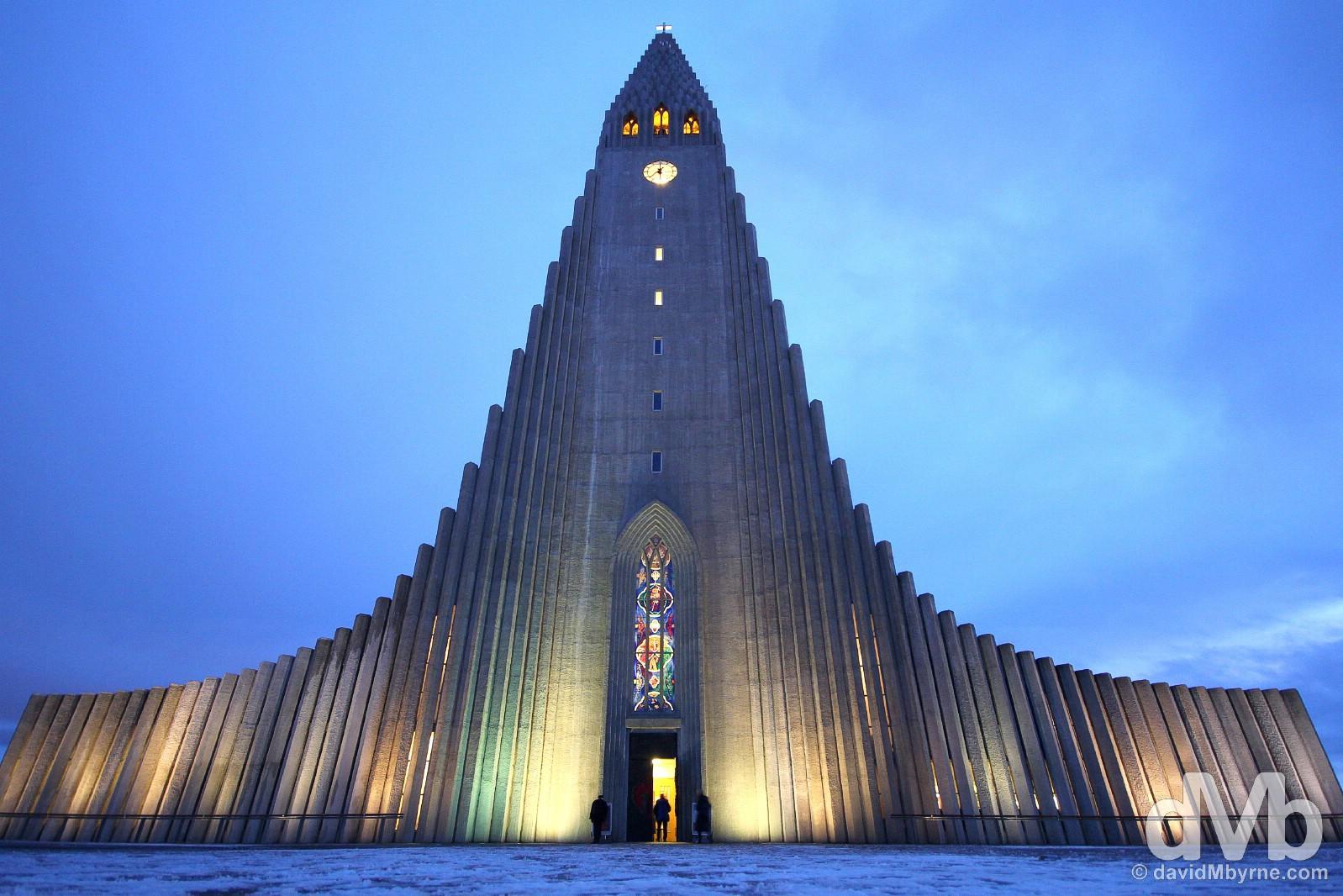 Hallgrímskirkja (Lutheran church), Reykjavik, Iceland. December 2, 2012.