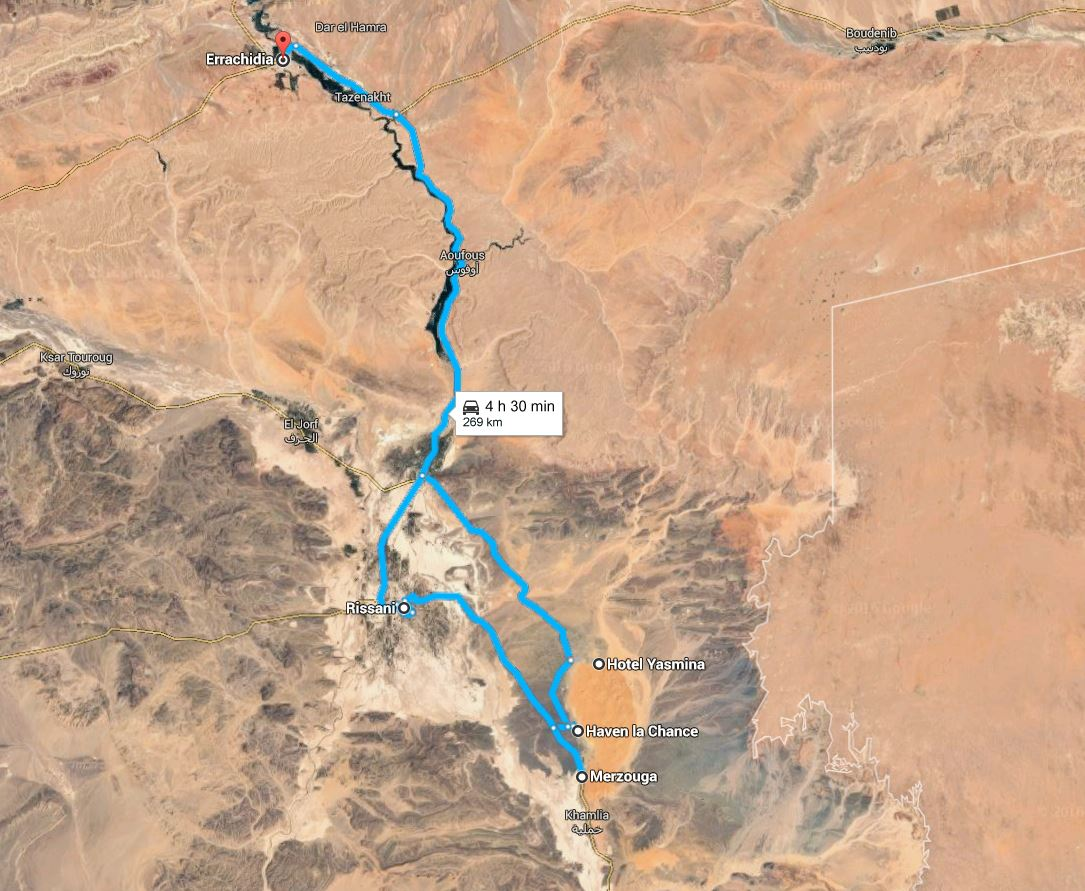 Er Rachidia to Merzouga via the N13, southeastern morocco.