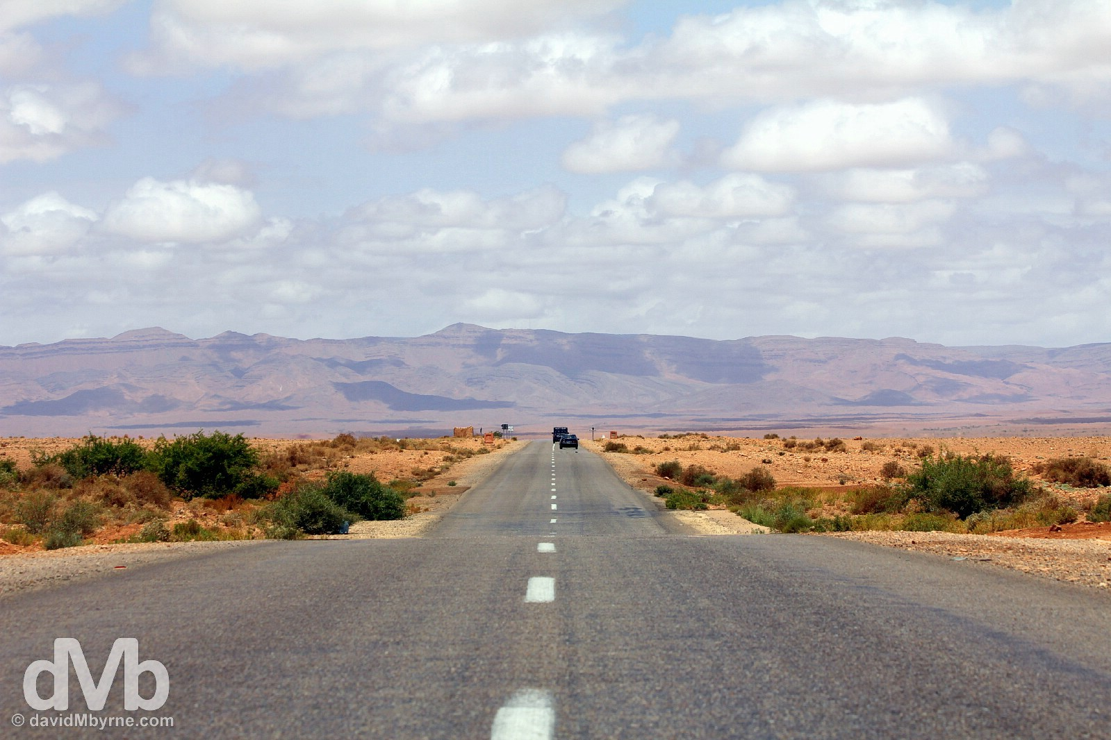 Road trip. The N13 between Er Rachidia and Merzouga, southeastern Morocco. May 19, 2014.