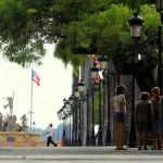 Paseo de la Princesa in Old San Juan, Puerto Rico, Greater Antilles. June 2, 2015.