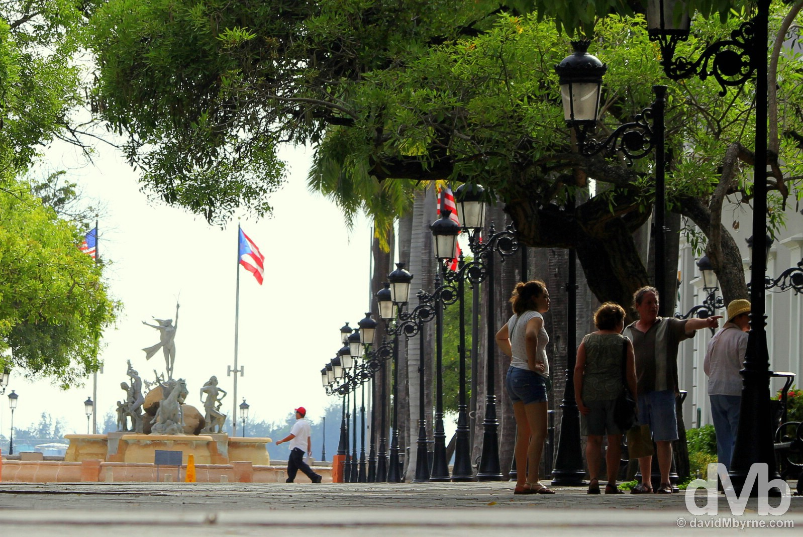 Paseo de la Princesa in Old San Juan, Puerto Rico, Greater Antilles. June 2, 2015.