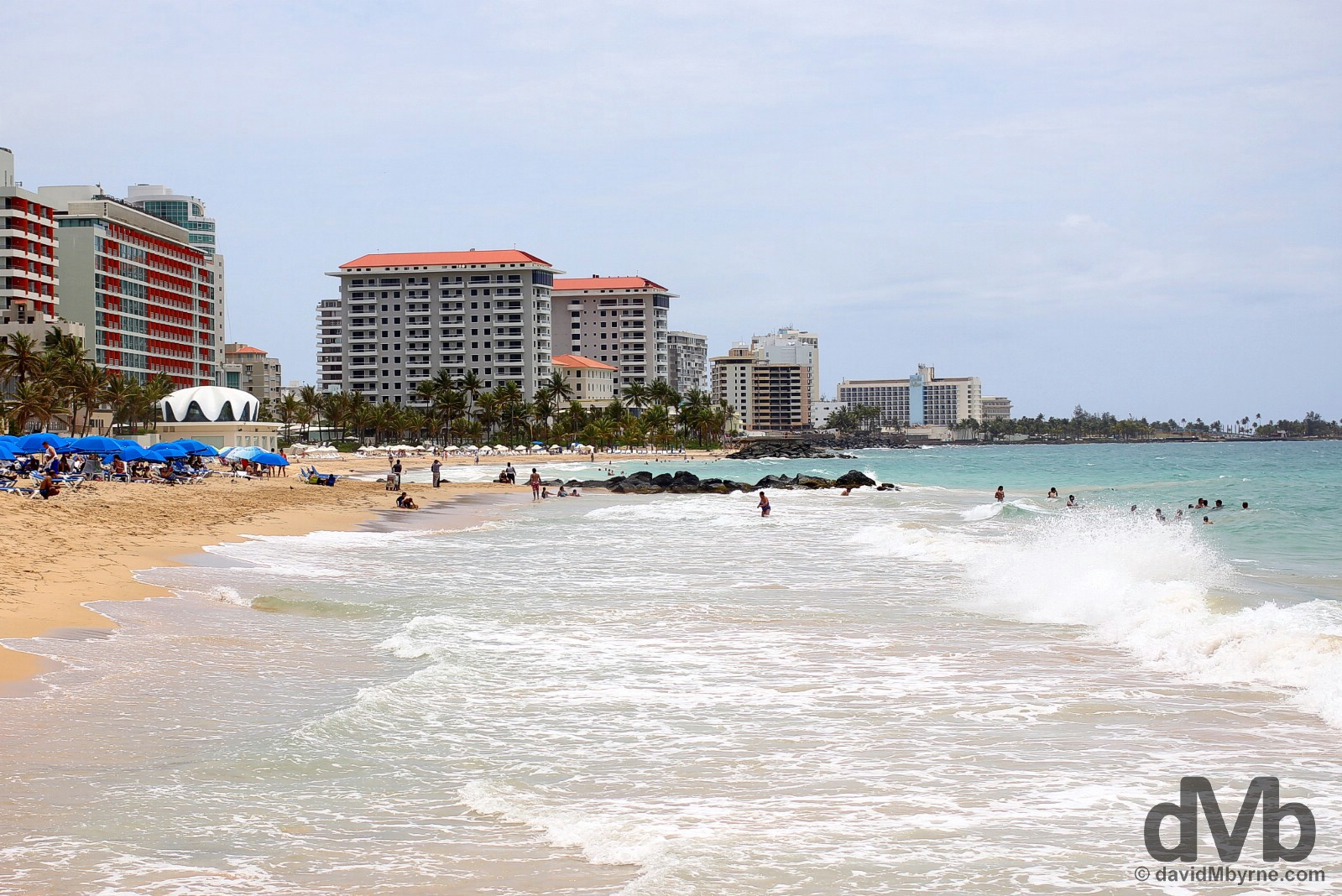 Playa Ocean Park in San Juan, Puerto Rico, Greater Antilles. June 1, 2015.