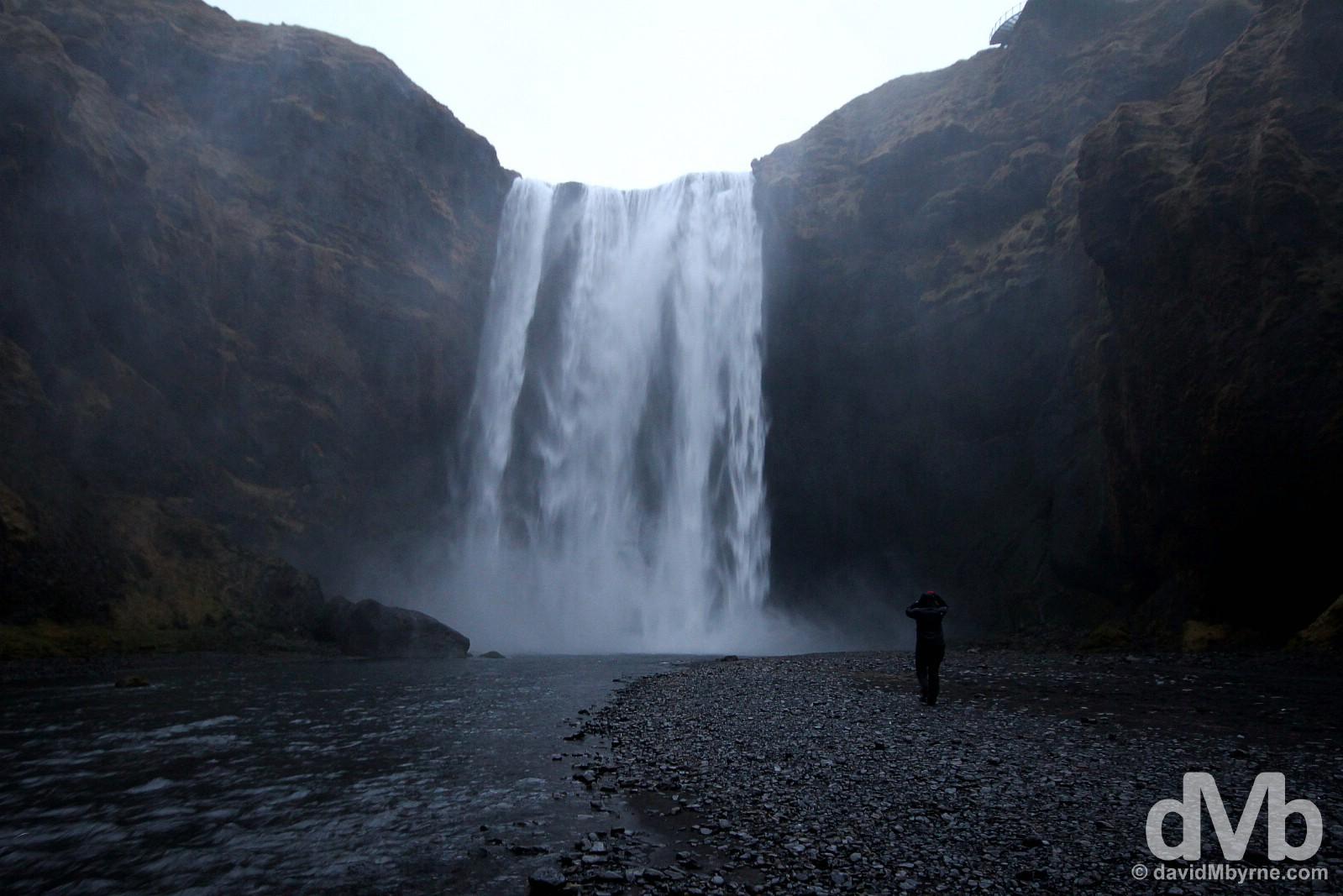 Skógafoss Waterfall, southern Iceland. December 5, 2012.