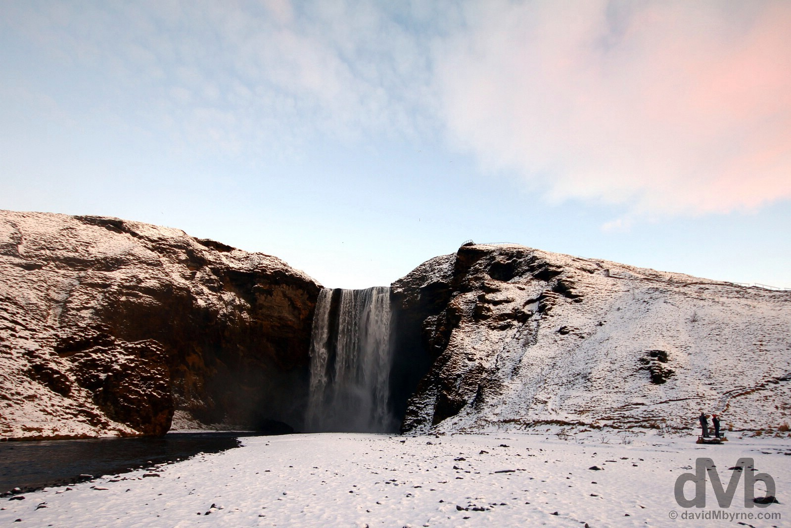 Skógafoss Waterfall, southern Iceland. December 5, 2012.