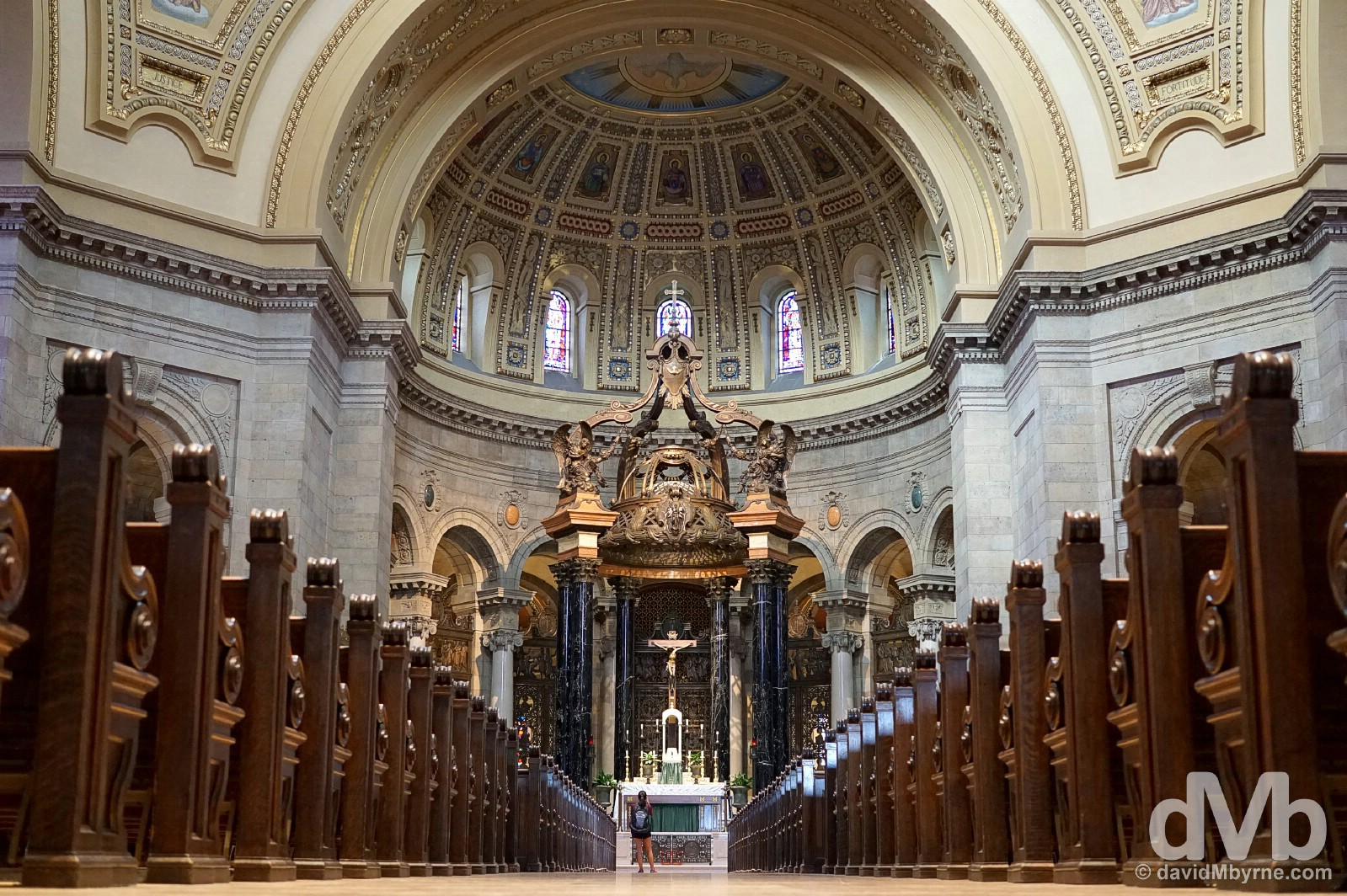 The interior of the Cathedral of St. Paul in St Paul, Minnesota. August 30, 2016.