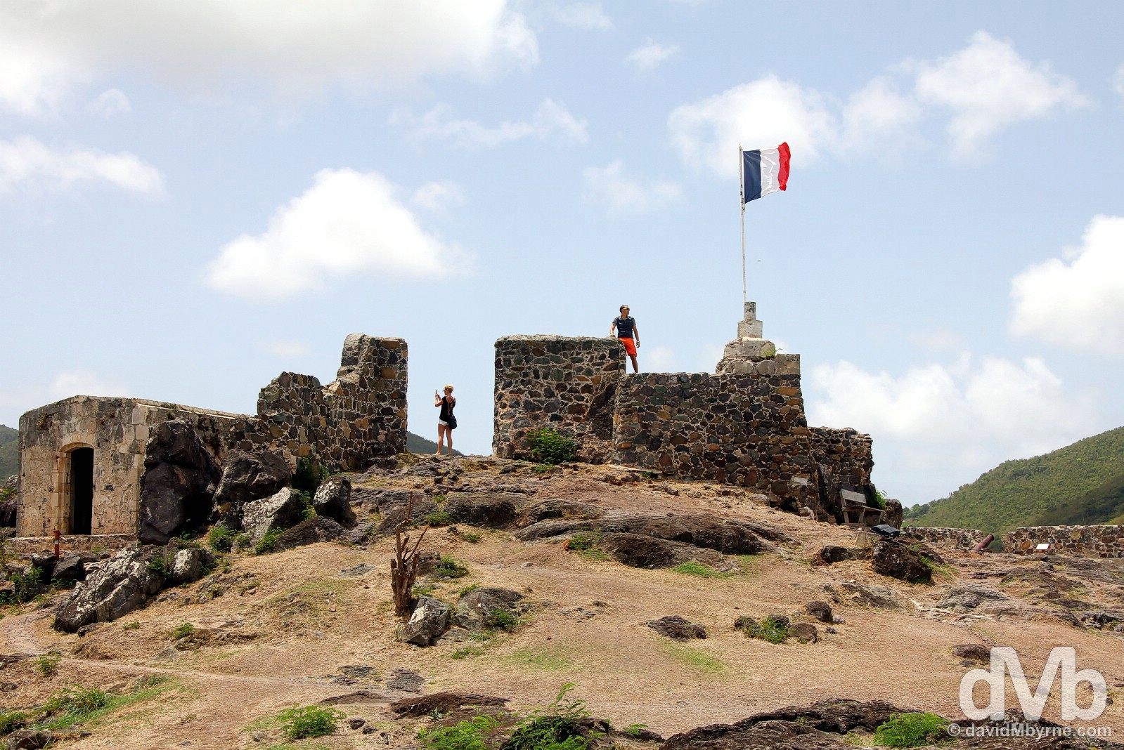 Fort Louis overlooking Marigot, Saint Martin, Lesser Antilles. June 8, 2015.